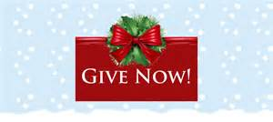 Holiday donate button